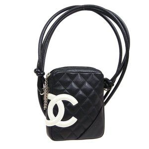CHANEL Cambon Line Quilted CC Cross Body Bag Black